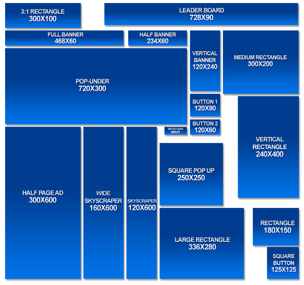 Creative web banner design for Standard blueprint size