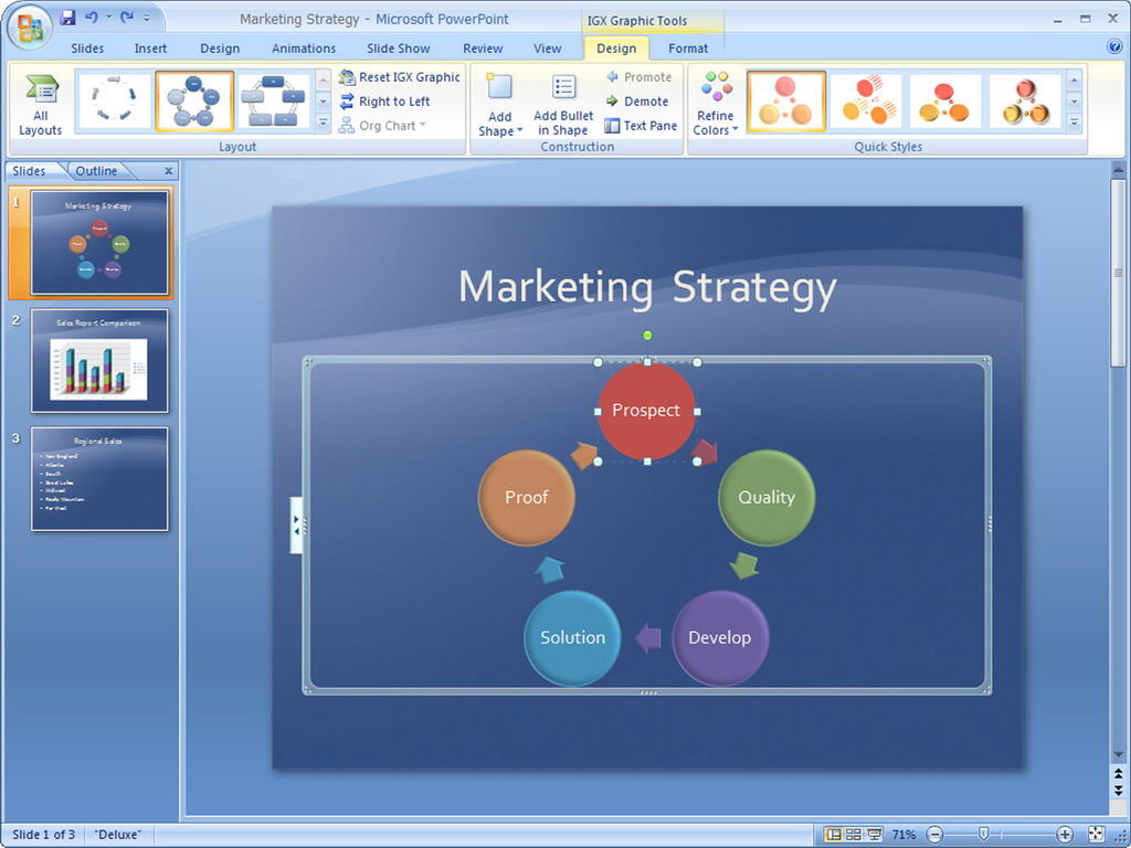 Creating and saving a PowerPoint template